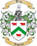 Brag Family Crest from England