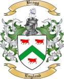 Bragg Family Crest from England