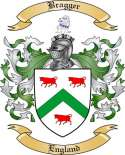 Bragger Family Crest from England