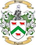 Braggs Family Crest from England