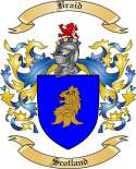 Braid Family Crest from Scotland