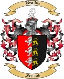 Braidie Family Crest from Ireland
