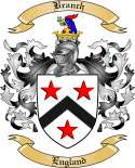 Branch Family Crest from England