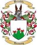 Brandde Family Crest from Germany2
