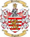 Brandon Family Crest from England