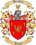 Brandon Family Crest from France
