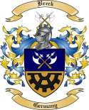 Breck Family Crest from Germany
