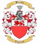 Brecks Family Crest from England