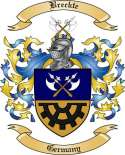 Breckte Family Crest from Germany