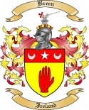 Breen Family Crest from Ireland