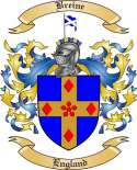 Breine Family Crest from England