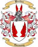 Breiten Family Crest from Germany