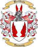 Breitkutz Family Crest from Germany