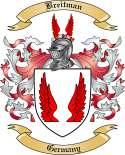 Breitman Family Crest from Germany