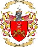 Brenan Family Crest from Ireland