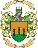 Brend Family Crest from Germany