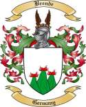 Brende Family Crest from Germany2