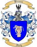 Brenna Family Crest from Italy