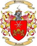 Brennan Family Crest from Ireland