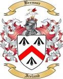 Brenner Family Crest from Ireland