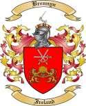 Brennyn Family Crest from Ireland