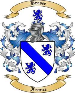Bresee Family Coat of Arms from France