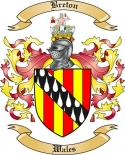 Breton Family Crest from Wales