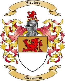 Brewer Family Crest from Germany by The Tree Maker