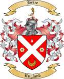 Brice Family Crest from England