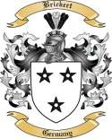 Brickert Family Crest from Germany