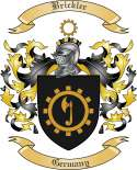 Brickler Family Crest from Germany