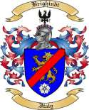 Brighindi Family Crest from Italy