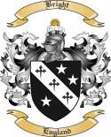 Bright Family Crest from England