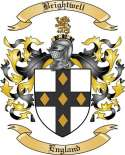 Brightwell Family Crest from England