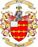 Brigs Family Crest from England