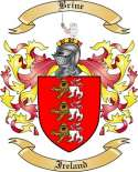 Brine Family Crest from Ireland