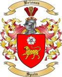 Briones Family Crest from Spain