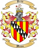 Britt Family Crest from Wales