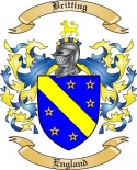 Britting Family Crest from England