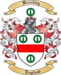 Broadley Family Crest from England