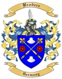 Brodere Family Crest from Germany