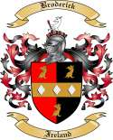 Broderick Family Crest from Ireland