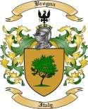 Brogna Family Crest from Italy