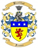 Broillat Family Crest from France