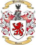Brondisis Family Crest from Greece