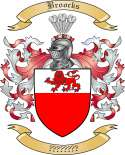 Broocks Family Crest from England