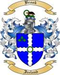 Brook Family Crest from Ireland