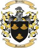 Brooks Family Crest from Scotland