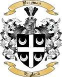Brooman Family Crest from England