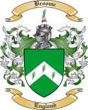 Broome Family Crest from England